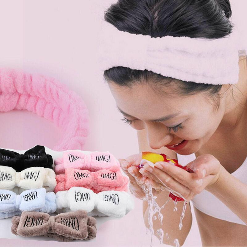 Women Towel Hair Band Wrap Wide Headband Spa For Bath Shower Band Wrap LI
