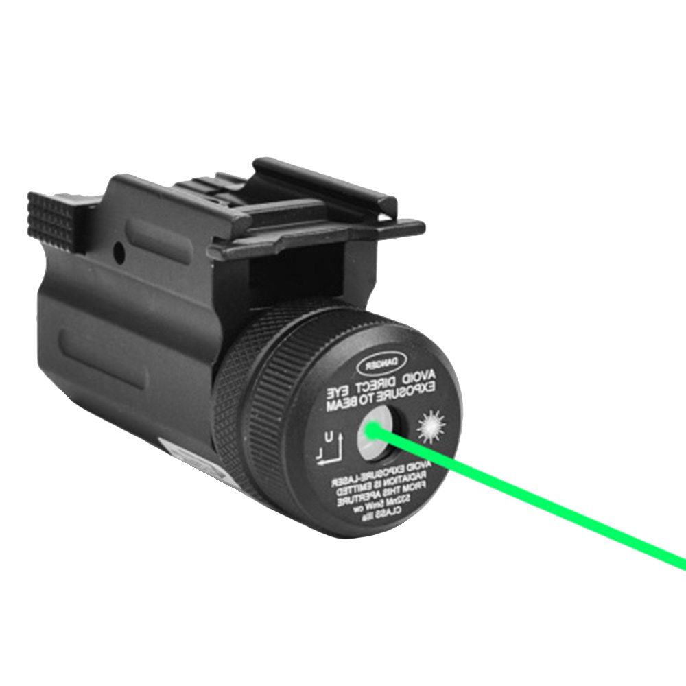 Outdoor Tactic Red/Green Laser Sight Rifle Rail Mount 650nm / 520nm Laser Sight For Pistol And Airsoft Rifle