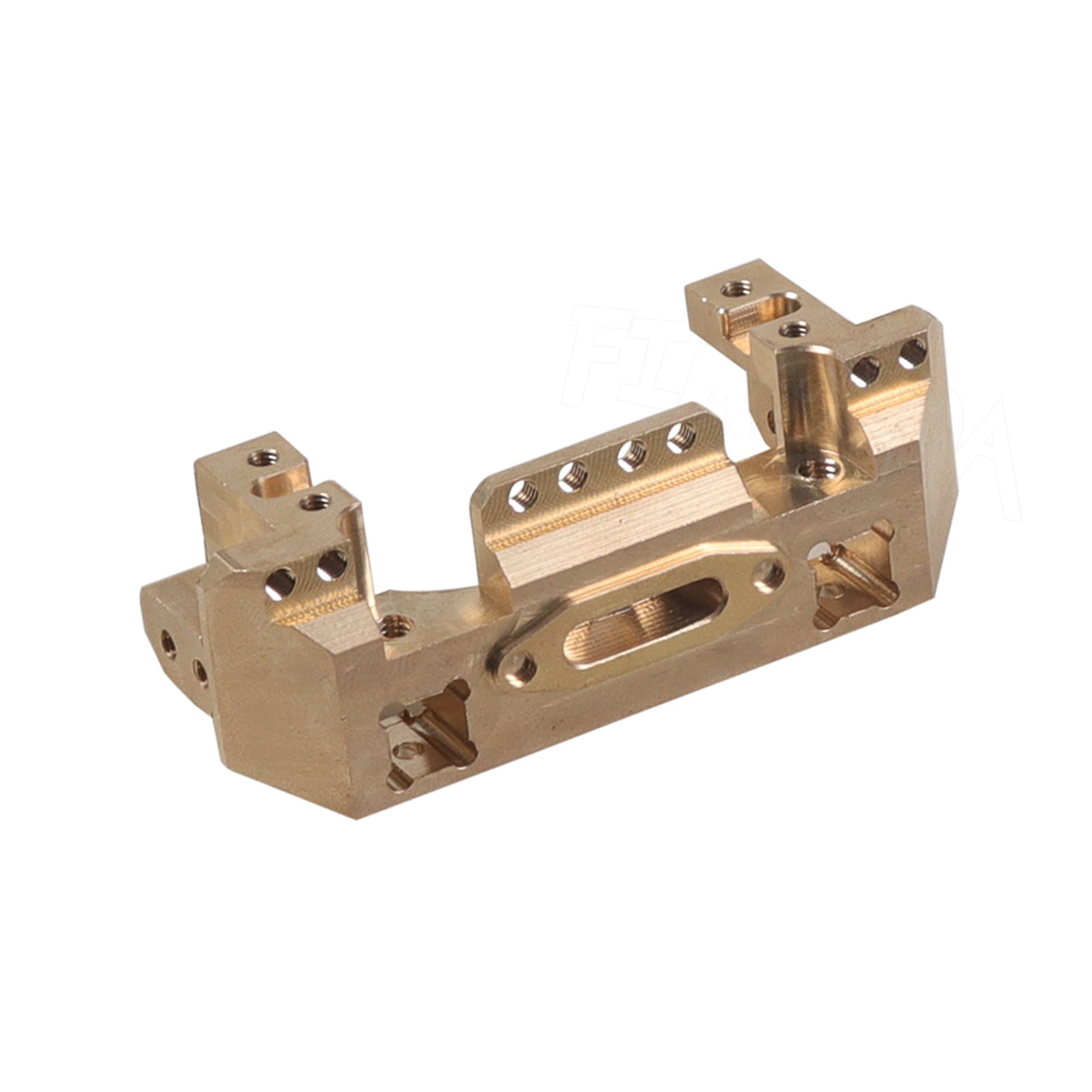 Image 4 - TRX4 CNC Aluminum Multifunctional Front Bumper Mount Servo Winch Brass Mount for 1/10 RC Crawler Traxxas TRX 4 Upgrade PartsParts & Accessories   -