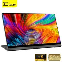 EVICIV 4K Portable Monitor 15.6 Auto Rotate Touch Screen UHD 3840x2160 USB C TouchScreen Laptop Macbook Second Display LCD HDMI