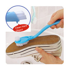 Shoes Brush Cleaning-Supplies Long-Handle Hot for 1pcs Double