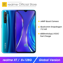 realme XT 8 RAM 128GB ROM NFC Mobile Phone Snapdragon 712 AIE 64MP Quad Camera C