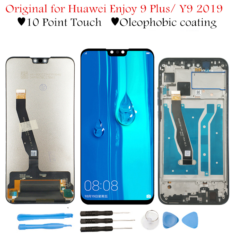 """Original 6.5"""" for Huawei Y9 2019/ Enjoy 9 Plus LCD Display Touch Screen Digitizer Assembly LCD Display TouchScreen Repair Parts-in Mobile Phone LCD Screens from Cellphones & Telecommunications"""