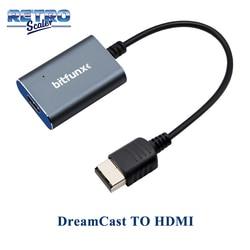Retroscaler mais novo adaptador hdmi para sega dreamcast jogo de vídeo alta definição hd suporta modos de exibição ntsc 480i, 480p