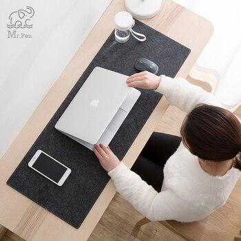Grande xxl escritório computador mesa tapete de mesa teclado grande mouse almofada feltro de lã computador portátil almofada de mesa não-deslizamento tapete gamer mousepad