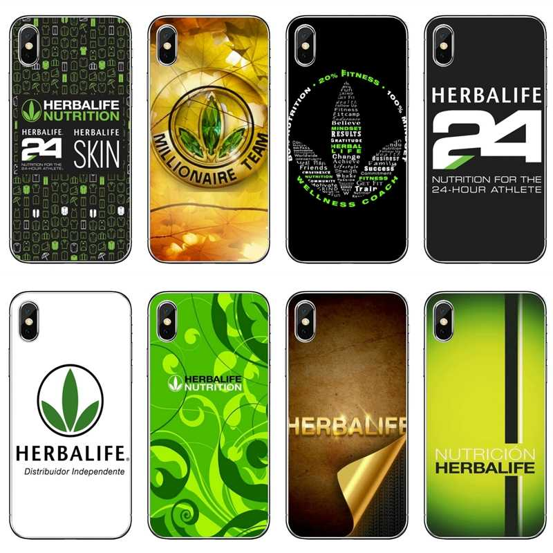 Cho Iphone 11 Pro XR X XS Max 8 7 6 S Plus SE 5S 5C IPod Touch 5 6 Trong Suốt Ốp Lưng Herbalife 24