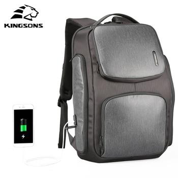 Kingsons Upgraded Solar Backpack Fast USB Charging Knapsack 15.6 inches Laptop Backpacks Men TraveBag Male Cool Mochila 1