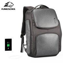 Рюкзак мужской под ноутбук 15,6 дюйма с USB портом для зарядки и солнечной батареей