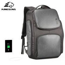 Kingsons Upgraded Solar Backpack Fast USB Charging Knapsack 15.6 inches Laptop Backpacks Men TraveBag Male Cool Mochila