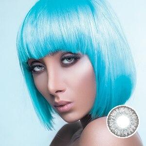 2 шт./пара, 3 тона, цветные контактные линзы ed, ежегодно цветные линзы ed для глаз, цветные контактные линзы