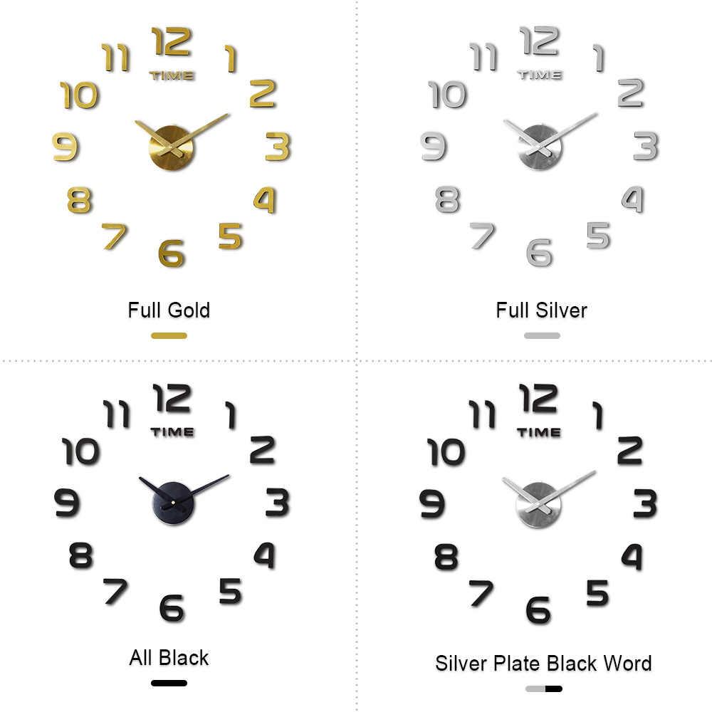 DIY 12v cyfrowy duży zegar ścienny lustro do dekoracji domu zegar naklejany na ścianę winylowy nowoczesny Design zegar na ścianie do salonu