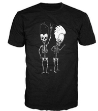 New Beavis And Butthead Bones Tshirt, Skeletons, Rock, Metal, Acdc, Black Sabbath Mens T-shirt Cotton Tees Shirt