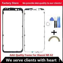 Cornice centrale di qualità AAA per Xiaomi MI A2 Cover alloggiamento telaio centrale per telaio in plastica XIAOMI MI A2