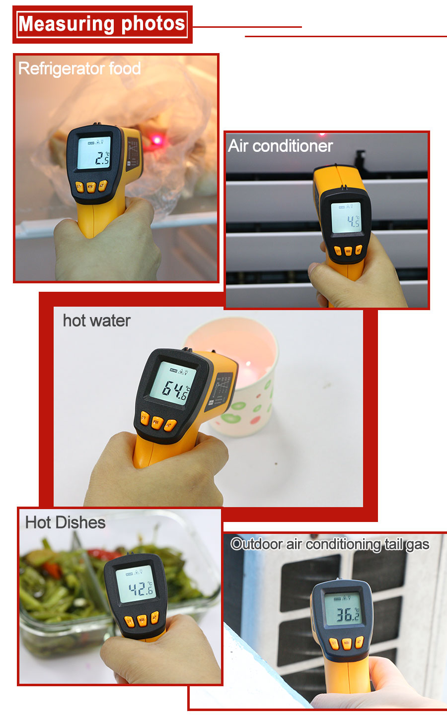 H3c21d2cedaa145e4a6551a2b0cce080eQ RZ IR Infrared Thermometer Thermal Imager Handheld Digital Electronic Outdoor Non-Contact Laser Pyrometer Point Gun Thermometer
