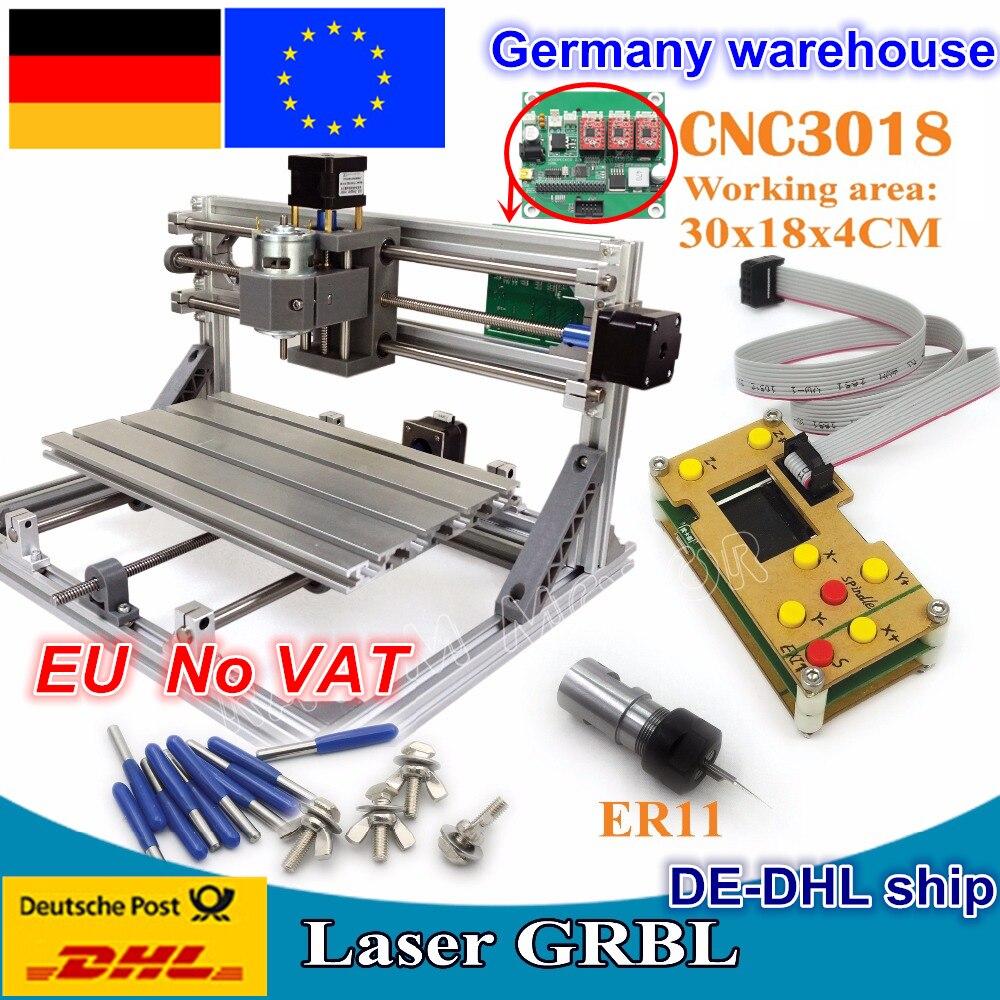 3018 CNC controlador GRBL Diy CNC maquina enrutadora 30x18x4,5 cm,3 ejes Pcb Pvc fresadora madera Router grabado láser