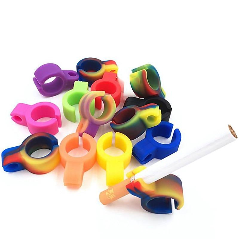 Оптовая продажа, водонепроницаемый непрерывный артефакт, 1 шт., силиконовое кольцо, держатель для пальцев, держатель для сигарет для обычног...