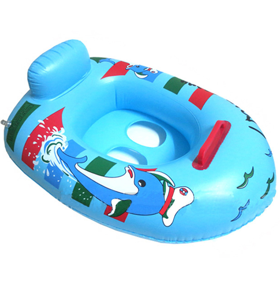 Baby Inflatable Boat  Summer Baby Swimming Pool Accessories Carton Inflatable Rings Children Swimming Circles Child Water Toy