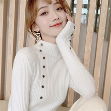 Fashion Thin Knitted Maternity Nursing Bottoming Shirts Autumn Breastfeeding Sweaters for Pregnant Women Pregnancy Feeding Tops(China)