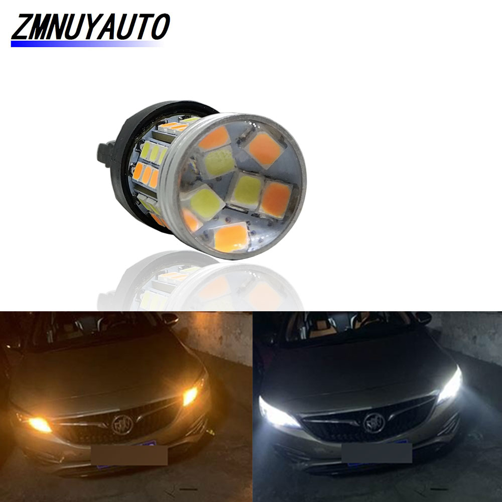 Switchback LED T20 7443 W21/5W Led Bulb Dual Color T25 3157 LED Turn Signal Light DRL 1157 BAY15D P21/5W Led Auto Lamp 12V image