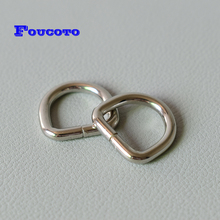 10pcs Metal Non-Welded D Ring For 15mm Webbing Dog Collar Adjustable Buckles Backpacks Straps Bags Dee DIY Accessories