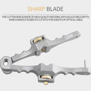 Image 4 - Kesici boyuna açılış bıçak kılıf eğme Fiber optik kablo striptizci SI 01