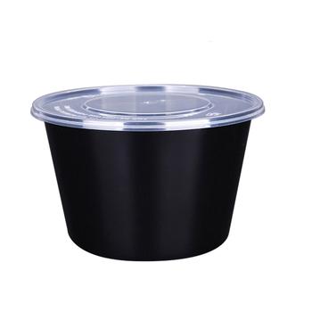 1000ML pojemniki na żywność [50 sztuk]-wielokrotnego użytku z tworzywa sztucznego pojemniki z pokrywkami-jednorazowe do jedzenia pojemniki do przygotowywania posiłków miski tanie i dobre opinie leezujun CN (pochodzenie)