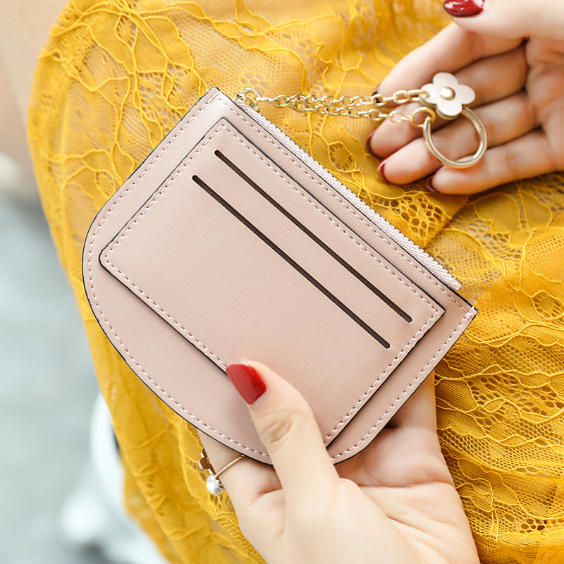 Amoy Printed Leather Goods * Purse Women's Mini Square Sling Bag New Style Korean-style Simple Cool Hipster Zipper Coin Bag