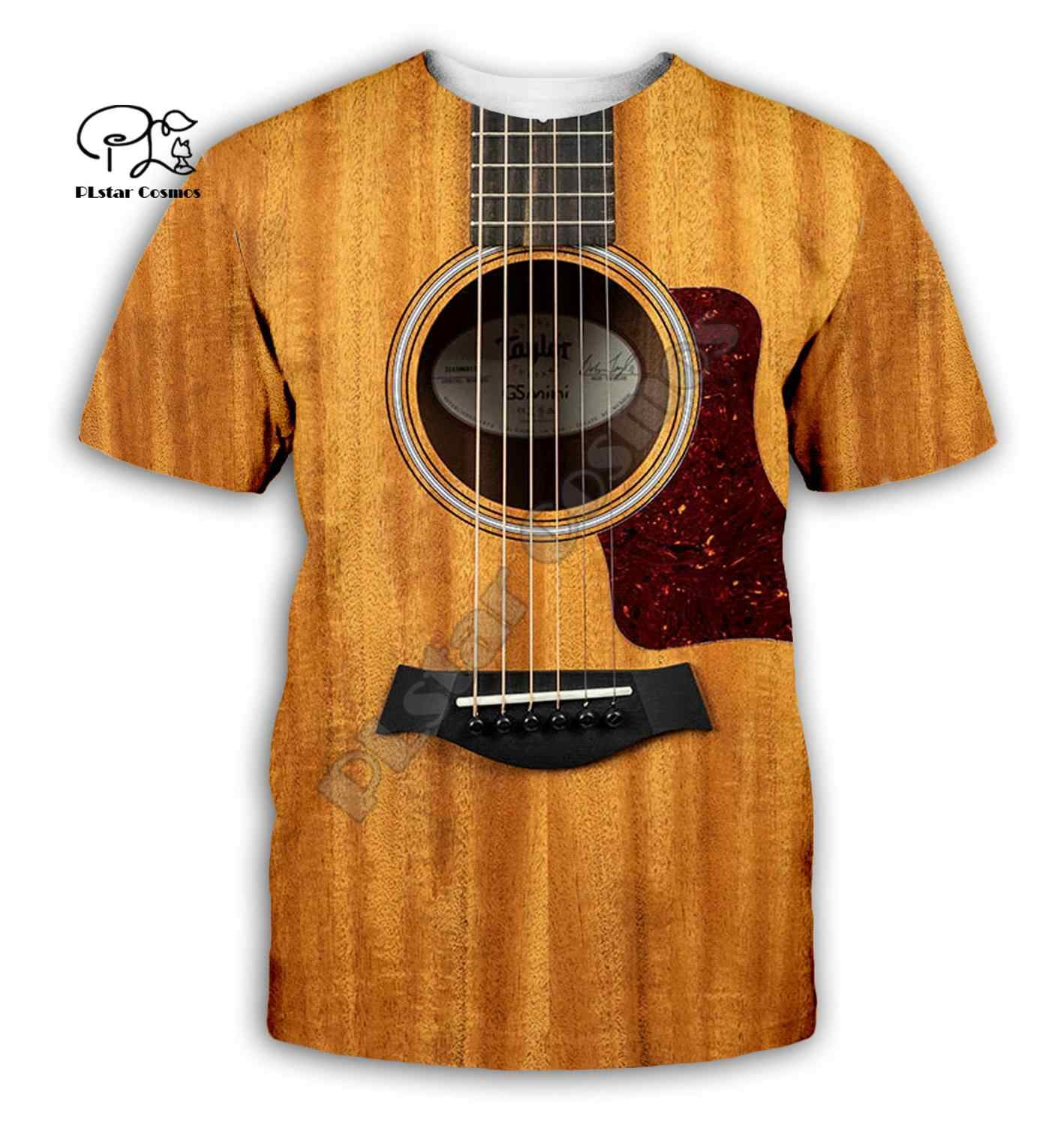 Guitar art Musical instrument 3D full printing fashion t shirt Unisex hip hop style tshirt streetwear casual summer style-1