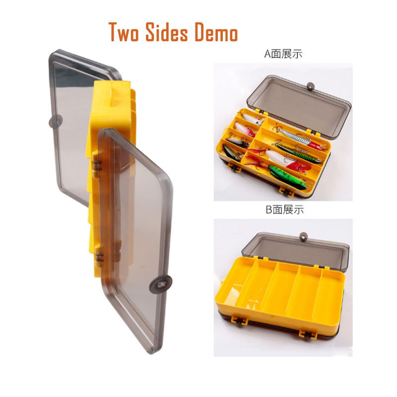 Double Side Lure Tackle Box Carp Bass Bait Lures Accessories Tool Hooks Storage Cases Clear Plastic Boxes Dual Sided Gear