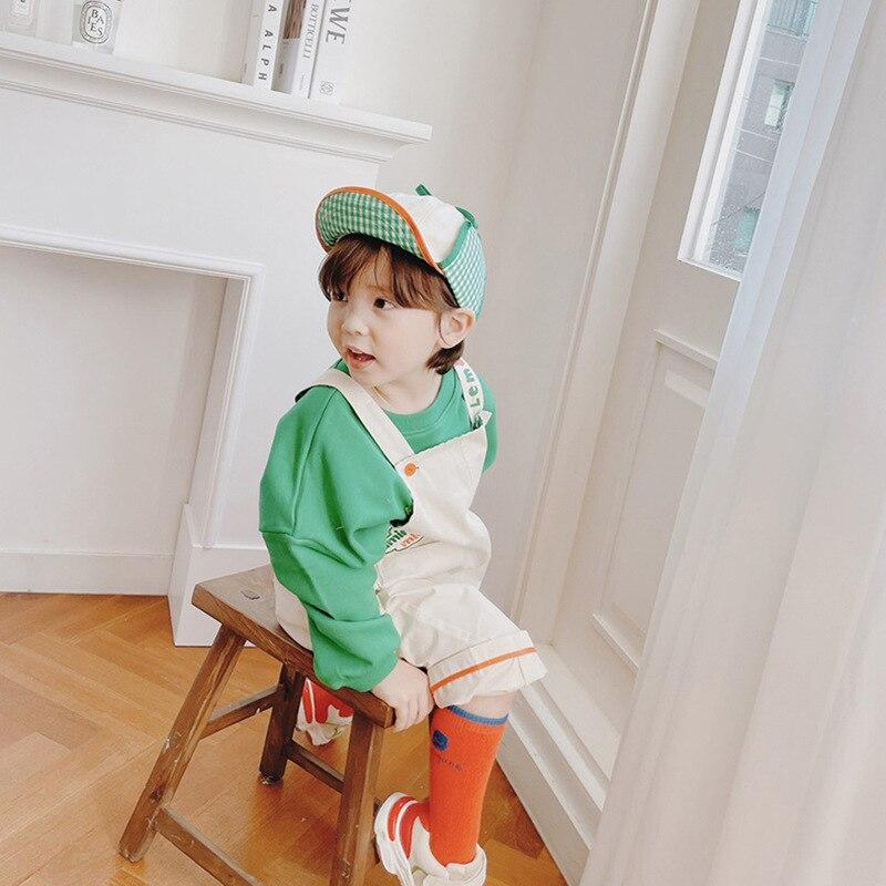 2021 New Spring Summer RJ Korean Brand Kids T-shirts Sweatshirt Baby Girls Children Cartoon T shirt Boy Clothes Jacket Overall 3
