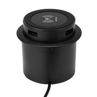Desktop Embedded  Mount Wireless ChargerCircular Invisible Cell Phone Charger For Hotels Restaurants Homes Leisure Venues|Wireless Chargers| |  -
