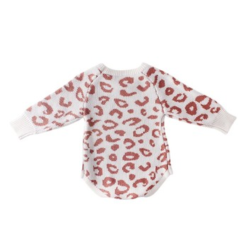 Comfortable ed Baby Clothes Newborn Baby Romper Leopard Baby Girl Romper Cotton Infant Baby Boy Romper 4