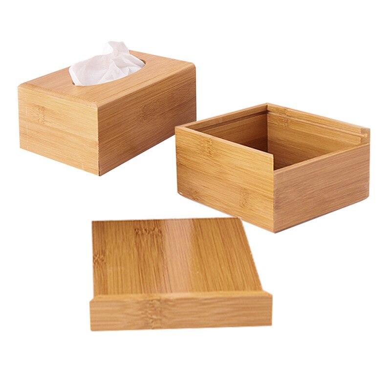 Твердая бамбуковая деревянная коробка для салфеток настольная бумага органайзер для хранения держатель для салфеток чехол украшение дома