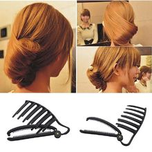 Women DIY Formal Hair Styling Updo Bun Comb And Clip Tool Set Twist Maker Holder For