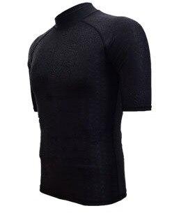2018 New Style Diving Suit Short Sleeve Faux Sharkskin Swimsuit Tops Men And Women Wetsuit Diving Suit Split Type