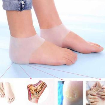 1pc Silicone Moisturizing Gel Heel Socks Cracked Foot Skin Care Protect Foot Chapped Care Tool Health Monitors Massager image