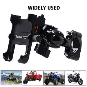 Image 5 - Waterproof Metal Motorcycle Smart Phone Mount with QC 3.0 USB Quick Charger Motorbike Mirror Handlebar Stand Holder