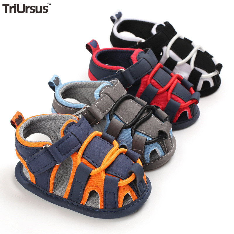 Cute Baby Sandals Brand New Infant Baby Boys Summer Shoes Hollow Out Newborn Toddler Crib Garden Shoes Baby Boy Flat Sandales
