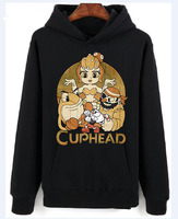POPTEES Cuphead Pop! Tees Cuphead and Bosses Mens Unisex HoodiesRound Neck Hoodiess