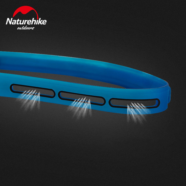 Naturehike unisex silicone elastic sweat wicking belt breathable sports fitness hiking bike antiperspirant belt NH17Z010-D 2