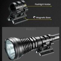 Nitecore arma magnética montagem gm02mh 24 26 26mm lanterna acessórios liga de alumínio adequado p12gt mh27 mh20 srt7gt mh40gtr