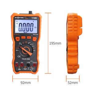 Image 5 - 20A multimètre numérique 6000 comptes testeur professionnel NCV HFE vrai RMS 100mF capacité tension ca/cc courant température outil
