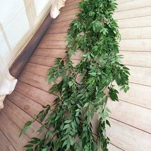 Image 2 - 190CM sztuczna dekoracja ślubna fałszywy winorośli liść rośliny garland strona główna ściana ogrodu eukaliptus faux rośliny sztuczna roślina