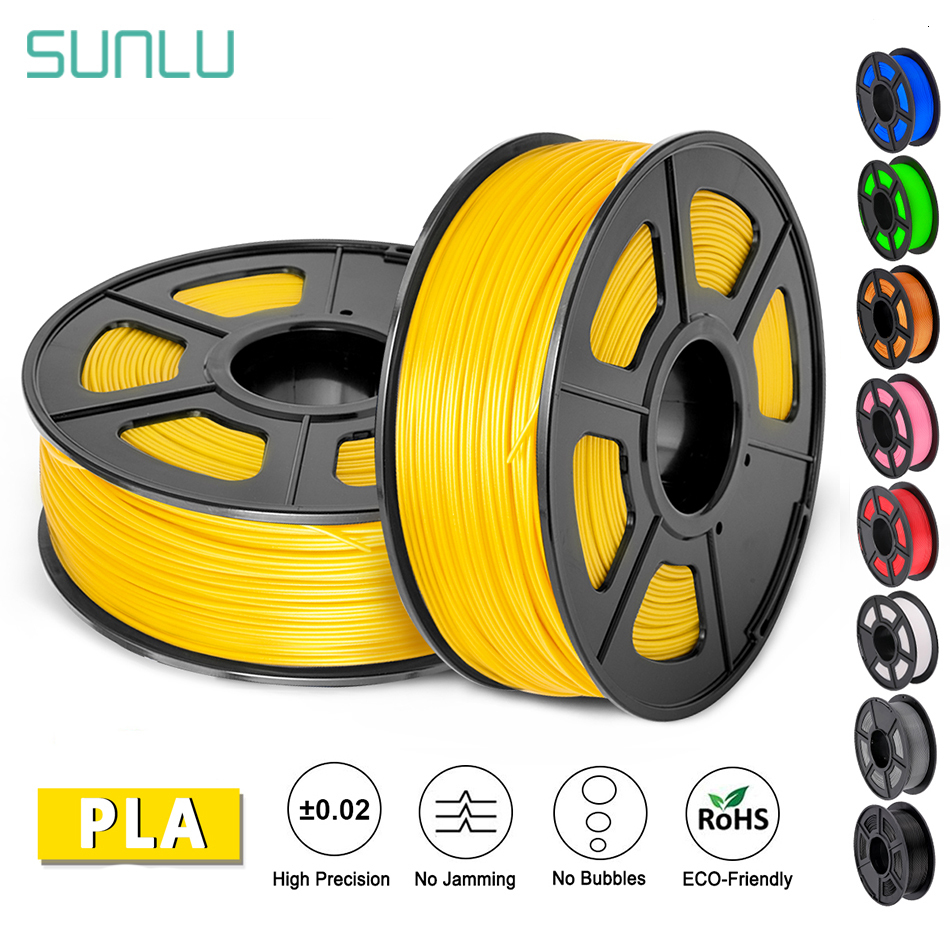 SUNLU PLA Filament 1.75mm 1KG Accuracy Dimension +/-0.02mm Plastic PLA 3d Printer Suppliers