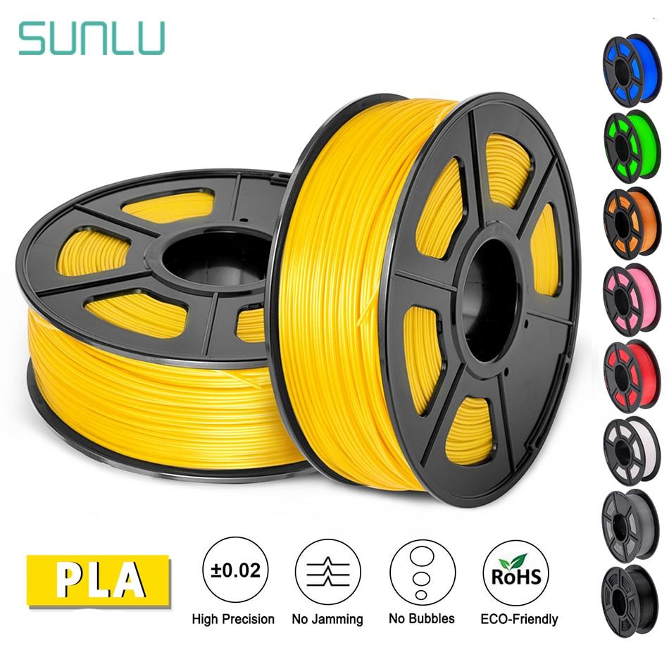 SUNLU PLA Filament 1.75mm 1KG Accuracy Dimension +/-0.02mm Plastic PLA 3d Printer Suppliers