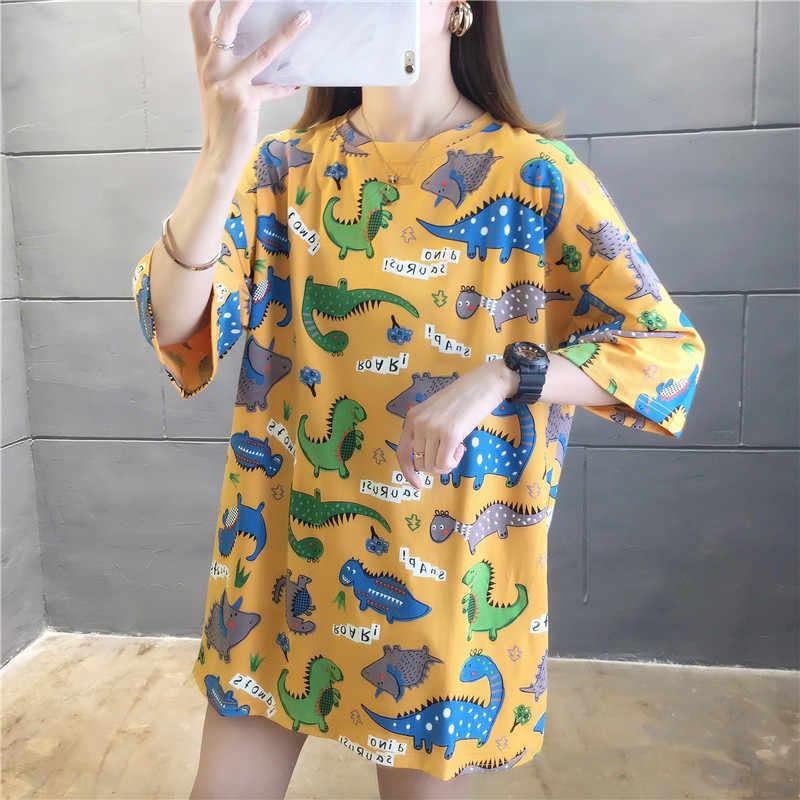 Harajuku Vrouwen Gestreepte Oversize T-shirt Chic Fashion 90S Korte Mouwen Losse T-shirts Vrouwelijke Casual Tops Kleding Streetwear Tees