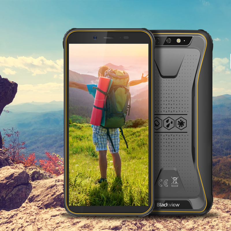 Blackview 2020 BV5500 Plus Rugged Smartphone IP68 Waterproof 3GB+32GB Android 10.0 Cellphone 5.5
