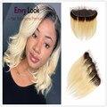 Envy Look Ombre 1b 613 4*13 Spitze Frontal Mit Baby Haar Brasilianisches Menschenhaar Maschine Remy Haar Blonde Farbe für Schwarze Frau Salon