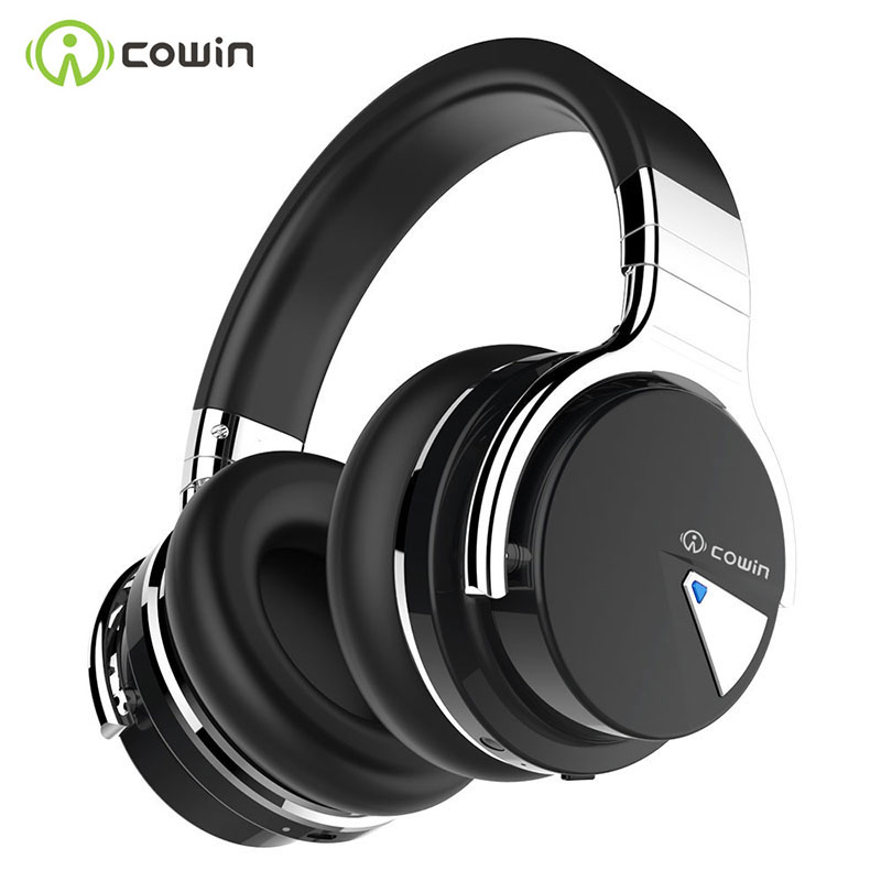 COWIN E7[Upgraded] Active Noise Cancelling Headphones Bluetooth Headphones Wireless Headset Over Ear 30 Hours Playtime with Mic