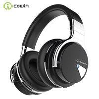COWIN-auriculares inalámbricos E7 con Bluetooth, dispositivo con cancelación activa de ruido, por encima de la oreja, 30 horas de reproducción, con micrófono